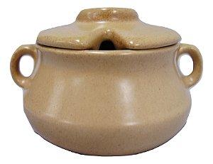 Cumbuca de barro argila com tampa 300ml