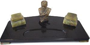 Tinteiro com Mata Borrão, Abridor de Cartas De Louis Pasteur