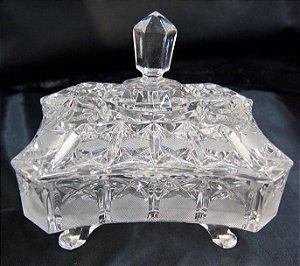 Bomboniere Baleiro de Cristal Tcheco Estilo Luis xv