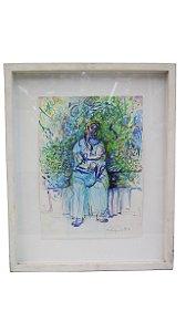 Quadro Pintura Óleo Sobre Tela Mulher Leila Pugnaloni