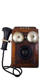 Telefone Antigo de Parede Com Discador Interno