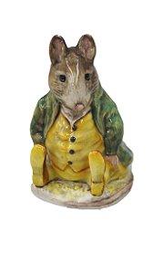 Enfeite Rato de Porcelana Beswick Beatrix Potter Samuel