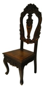 Cadeira Antiga Chipandalle Madeira De Imbuia