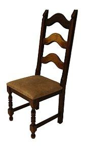 Conjunto de 6 Cadeiras para Mesa de Jantar Estilo Colonial