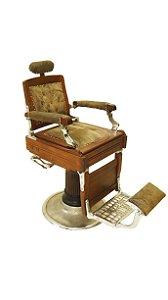 Cadeira de Barbeiro Antiga déc 1920 Madeira Imbuia