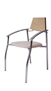 Conjunto 6 Cadeiras Para Mesa de Jantar Industrial Cromada