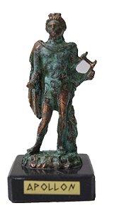 Escultura Miniatura em Bronze Deus Grego Apollo