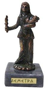 Escultura Miniatura em Bronze Deusa Grega Demetra