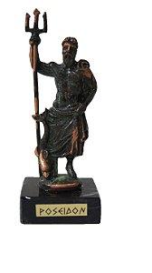 Escultura Miniatura em Bronze Deus Grego Poseidon