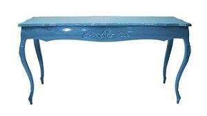 Aparador Em Madeira Azul Estilo Luis XV - Réplica
