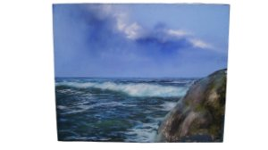 Kit 3 Quadro Tela Pintura A Óleo Praia Oceano mar ângelo di Fiori 80cm