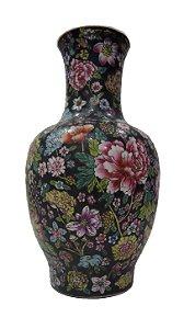 Vaso De Porcelana Chinês Pintado A Mão Séc XVIII
