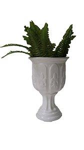 Vaso de cerâmica Floreira Antigo Branco