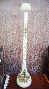 Vaso Solitária Opalina Flores em Porcelana Fria