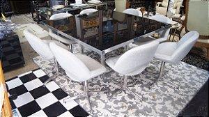 Conjunto Sala De Jantar Mesa Com 8 Cadeiras
