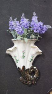 Vaso Aparador de Flores de Parede Estilo Art Nouveau