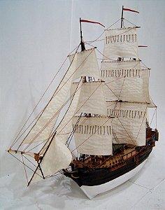 Fragata Caravela Em Madeira Para Decoração 100cm