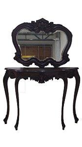 Aparador Com Espelho Estilo Luis XV Imbuia