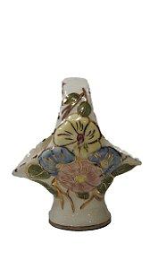 Floreira de Porcelana Pintada A Mão Déc. 60