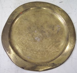 Bandeja de Aço dourada