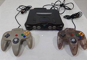 Nintendo 64 Com 2 Controles E Fonte Original