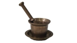 Almofariz Pilão E Socador Bronze