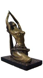 Estatua em Bronze Bailarina Base em Mármore