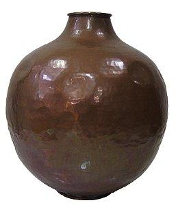 Vaso Antigo de Cobre Martelado Déc. 50 Decoração