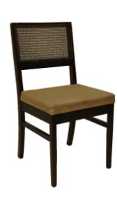 Conjunto 08 Cadeiras para mesa de jantar Palhinhas Quadrada
