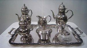 Serviço De Chá Café Art Nouveau Em Prata 90