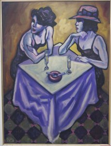 Quadro Pintura A Óleo Mulheres - Acir Fressatto  66x96