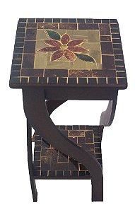 Mesa lateral Vitral Mosaico Rústico