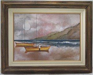 Quadro Pintura a Óleo Marinha - Borges F.