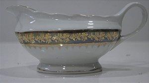 Molheira Steatita Em Porcelana Flores Douradas