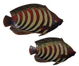 Par De Peixes De Parede ( 2 Peças )