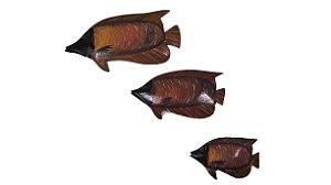 Enfeite de Parede Trio de Peixes