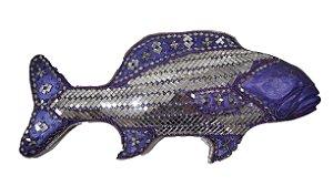 Enfeite de Parede Peixe Tucunaré Em Gesso