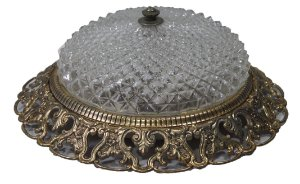 Luminária De Teto Estilo Luiz XV Em Bronze