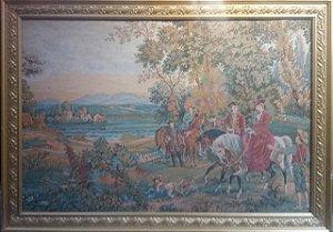 Quadro Gobelein Caçada Cavalaria