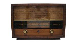 Rádio de Madeira Semper a Pilha