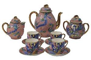 Jogo De Café De Porcelana Japonesa 11 peças