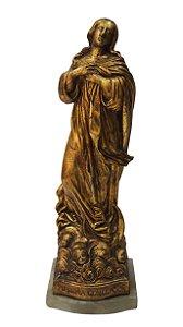 Nossa Sra Conceição Onyx Verde Folha de Ouro Origem Espanha