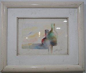 Quadro Aquarela R. J. Francisco 1989 25x33cm
