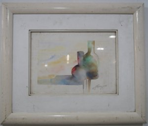 Quadro Aquarela R. J. Francisco 1989