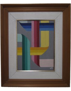 Quadro Abstrato Caio 1987