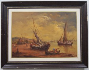 Quadro Barcos de pesca - Helio Castro 2003