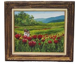 Quadro Tulipa Vermelha - Nilson Müller 2000