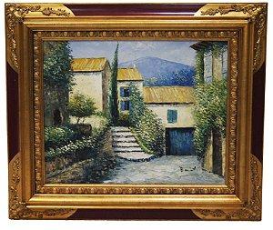 Quadro Pintura a Óleo Cidade de Itália - Baiet
