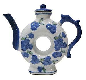 Chaleira de Porcelana Redonda Decorativa