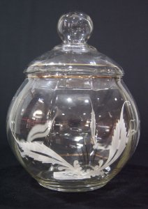 Compoteira Antiga Vintage de Vidro